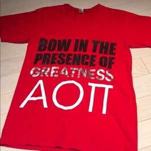 """""""Bow In The Presence of Greatness"""" AOII Tee"""